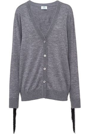 Prada Fine knit fringed cardigan