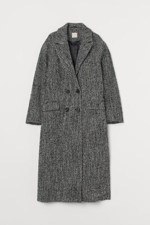 H&M Casaco comprido mistura de lã
