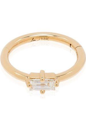 Lizzie Mandler 18kt yellow diamond huggie pendant