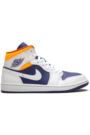 "Jordan Air 1 Mid ""Royal /Laser Orange sneakers"