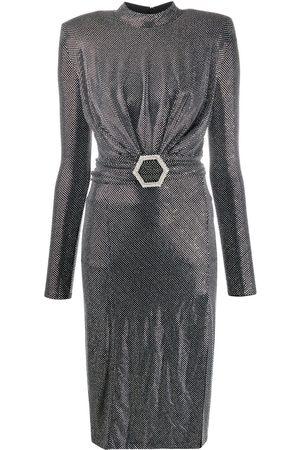 Philipp Plein Crystal Long Dress