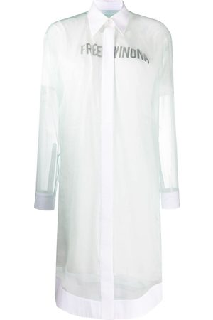 OFF-WHITE Free Winona-print shirt dress