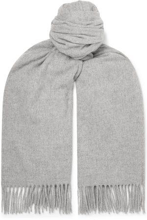 Acne Studios Homem Cachecóis & Echarpes - Oversized Fringed Melangé Wool Scarf