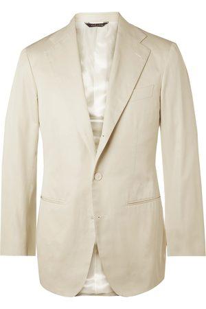 Saman Amel Homem Casacos - Slim-Fit Cotton Suit Jacket