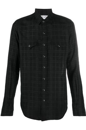 Saint Laurent Checked slim-fit shirt