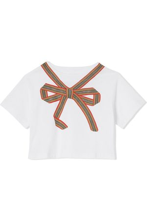 Burberry Bow-print cropped T-shirt