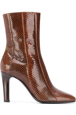 Saint Laurent Snakeskin effect ankle boots