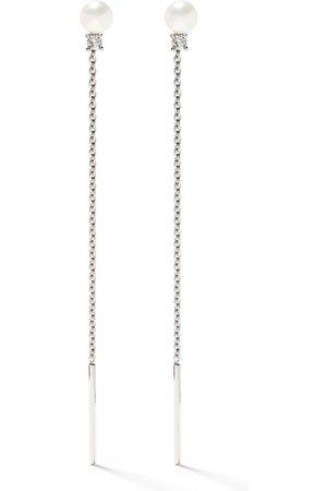 Yoko London 18kt white gold Trend diamond and pearl earrings