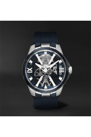Ulysse Nardin Homem Relógios - Skeleton X Hand-Wound 42mm Titanium and Rubber Watch
