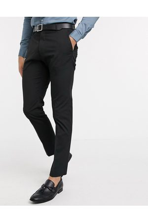 Selected Suit trouser with stretch in slim fit black