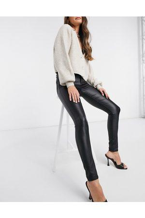 Vila Coated jeans in black