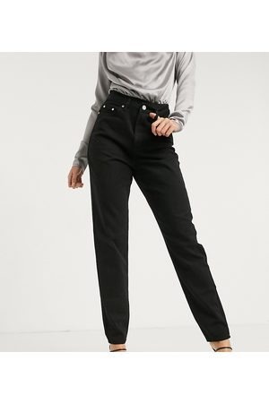 Missguided Riot highwaisted recycled denim mom jean in black