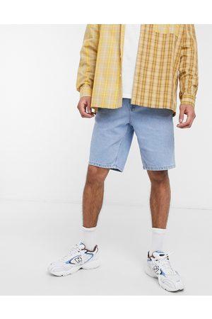 ASOS Slim denim shorts in light stone wash blue