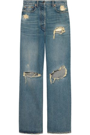 Gucci Distressed boyfriend-fit jeans