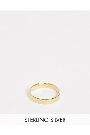 ASOS Sterling silver band ring in 14k gold plate