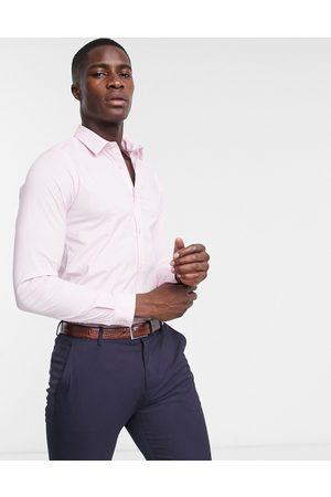 French Connection Skinny fit stretch poplin shirt-Pink
