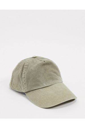 ASOS Baseball cap in washed khaki-Green