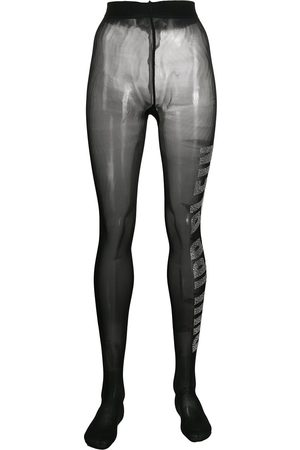 Philipp Plein Logo gem-embellished tights