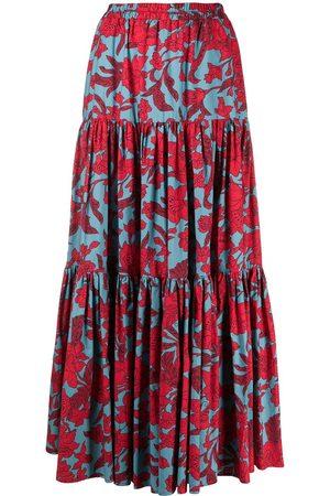 La DoubleJ Senhora Saias Estampadas - Floral print skirt