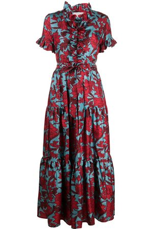 La DoubleJ Long and Sassy floral ruffle dress