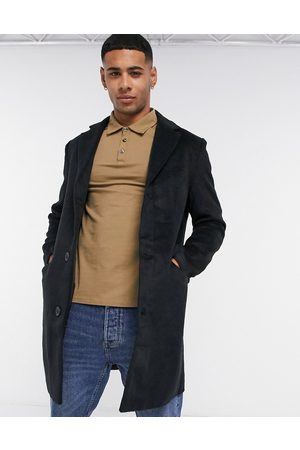 Another Influence Wool blend over coat in black