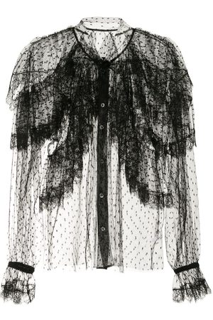 Dolce & Gabbana Point d'esprit ruffled shirt