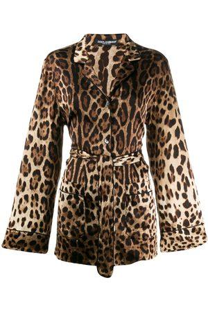 Dolce & Gabbana Leopard print pajama shirt