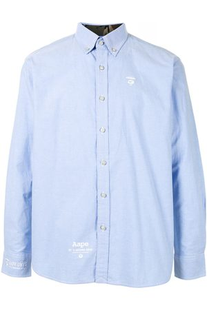 AAPE BY *A BATHING APE® Ape silhouette button-down shirt
