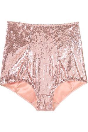 Dolce & Gabbana Sequined high-waist briefs