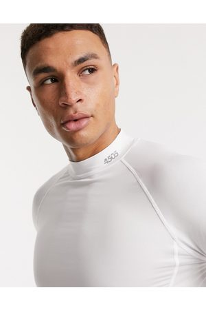 ASOS Icon training base layer long sleeve t-shirt with quick dry in white