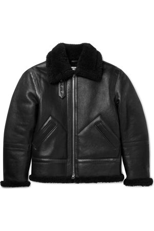 Acne Studios Homem Casacos de Pele - Shearling-Lined Full-Grain Leather Jacket