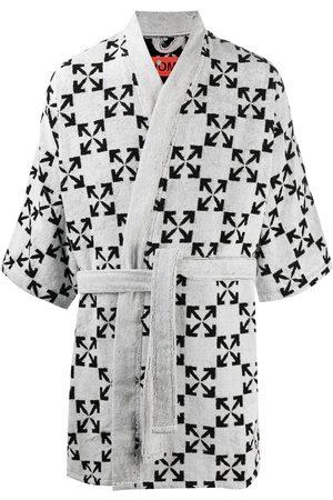 OFF-WHITE Arrows pattern bathrobe
