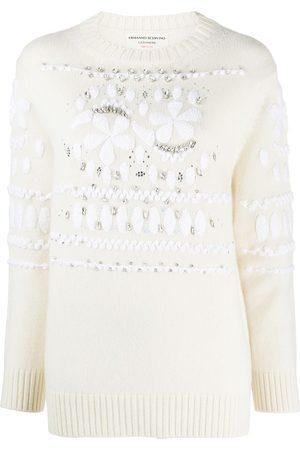 ERMANNO SCERVINO Embellished floral motif jumper