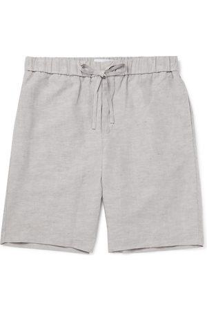 Frescobol Carioca Mélange TENCEL and Linen-Blend Drawstring Shorts