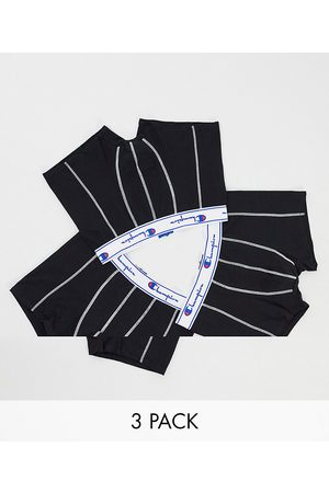 Champion 3 pack jersey boxer shorts in black