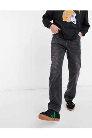 ASOS Homem Retos - Dad jeans in vintage washed black