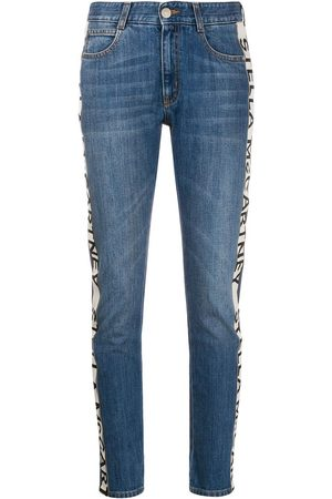 Stella McCartney Logo-stripe cropped jeans