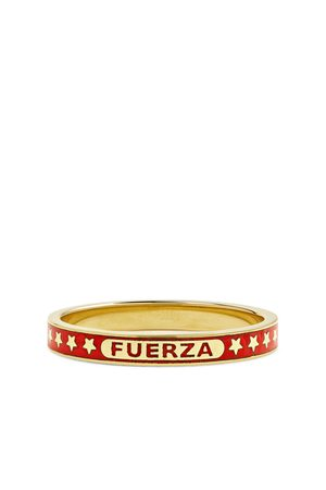 Foundrae Homem Anéis - Fuerza 18-Karat Gold and Enamel Ring