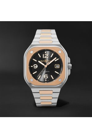 Bell & Ross Homem Relógios - BR 05 Automatic 40mm 18-Karat Rose Gold and Steel Watch, Ref. No. BR05A-BL-STPG/SSG