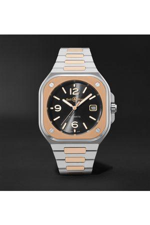 Bell & Ross Homem Relógios - BR 05 Automatic 40mm 18-Karat Rose Gold and Steel Watch, Ref. No. BR05A-BL-STPG/SSG