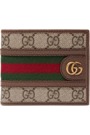 Gucci Homem Bolsas & Carteiras - Ophidia Webbing-Trimmed Monogrammed Coated-Canvas and Leather Billfold Wallet