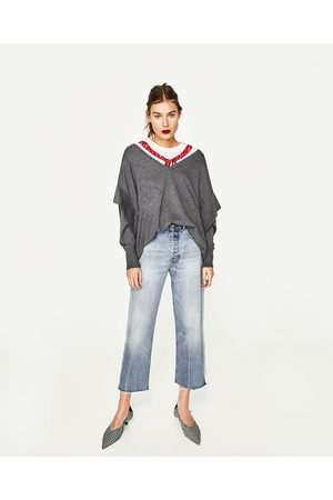 Camisolas sem capuz - Zara CAMISOLA FOLHO - Disponível em mais cores