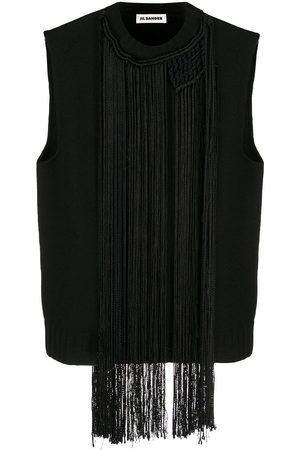 Jil Sander Macramé-necklace vest