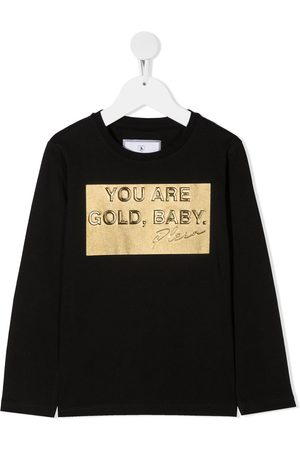 Philipp Plein Gold, Baby long sleeved T-shirt