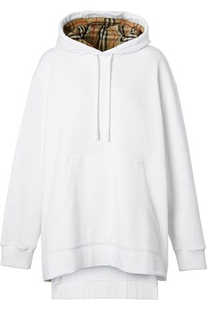 Burberry Oversized high-low hem hoodie