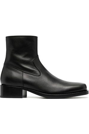 ANN DEMEULEMEESTER Zip-up calf leather boots