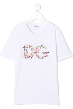 Dolce & Gabbana Floral embroidered logo T-shirt