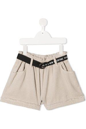 Le pandorine Belted corduroy shorts