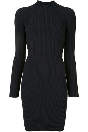 DION LEE Ribbed twisted-back mini dress
