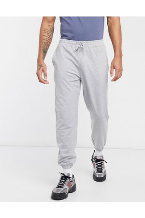 ASOS Icon training joggers with tapered fit in grey marl